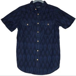 Earthbound Trading Navy Ikat Button Down Shirt